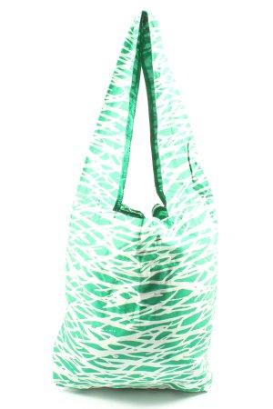 Diane von Fürstenberg Sac en toile vert-blanc imprimé allover