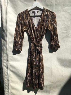 Diane von Furstenberg Robe portefeuille multicolore soie