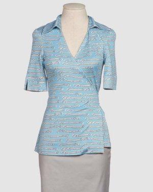 Diane von Furstenberg Silk Blouse azure silk