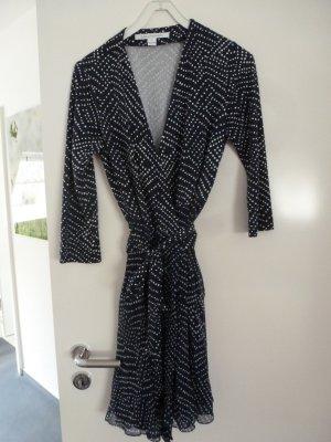 Diane von Furstenberg Kopertowa sukienka niebieski-biały Jedwab