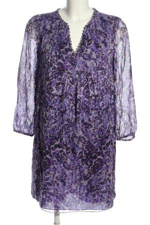 Diane von Furstenberg Blusenkleid lila-braun abstraktes Muster Casual-Look