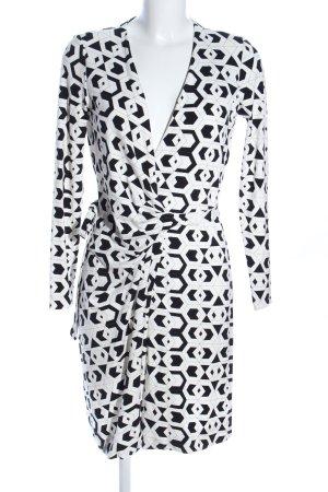 Diane von Furstenberg Cardigan weiß-schwarz grafisches Muster Elegant
