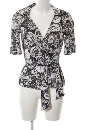Diane von Furstenberg Cardigan schwarz-weiß Blumenmuster Elegant