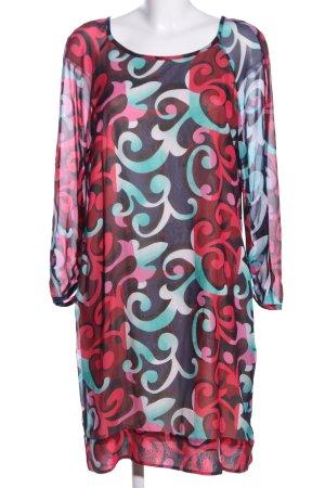 Diane von Furstenberg Chiffonkleid abstraktes Muster Casual-Look