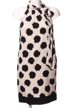 Diane von Furstenberg Corsagejurk wit-zwart abstract patroon zakelijke stijl