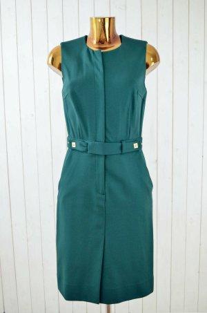 DIANE VON FURSTENBERG Damen Kleid Grün Köperstruktur Tailliert Gr.8/40