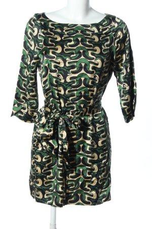 Diane von Furstenberg Etuikleid grün-creme Allover-Druck Casual-Look