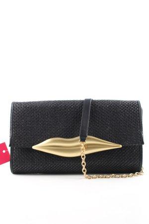Diane von Furstenberg Handtasche schwarz-goldfarben Casual-Look