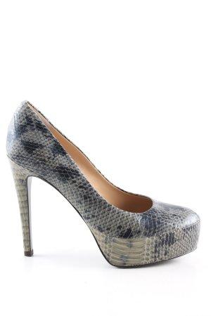 Diane von Furstenberg High Heels blau-grün Animalmuster Elegant