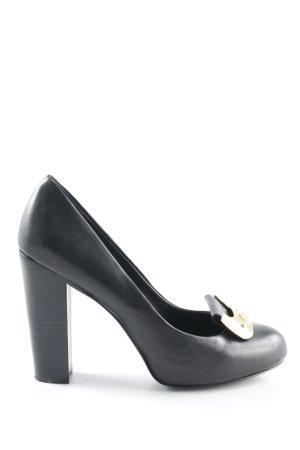 Diane von Furstenberg High Heels schwarz-goldfarben Elegant