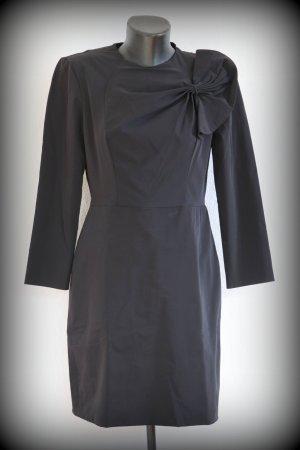 Diane von Furstenberg Vestido de manga larga negro tejido mezclado