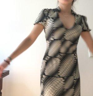 Diane von Furstenberg Abito a maniche corte bianco-nero