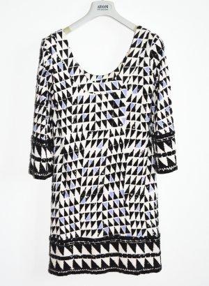 Diane von Furstenberg Kleid aus Seide mit Pailetten bestickt Shiftkleid 38
