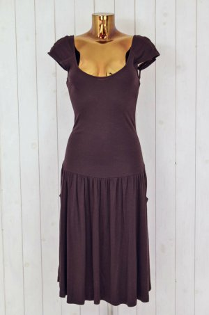 DIANE VON FURSTENBERG Kleid Jerseykleid Jersey Braun Rayon Volants Gr.6/36-38
