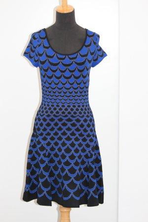 Diane von Furstenberg Kleid S Royalbau Schwarz Silber-
