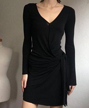 Diane von Furstenberg Vestido cruzado negro