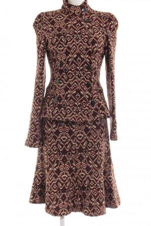 Diane von Furstenberg Kostüm rostrot-creme Casual-Look