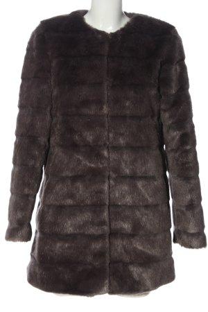 Diane von Furstenberg Manteau en fausse fourrure brun motif de courtepointe
