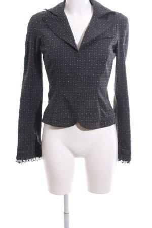 Diane von Furstenberg Korte blazer lichtgrijs gestippeld patroon zakelijke stijl