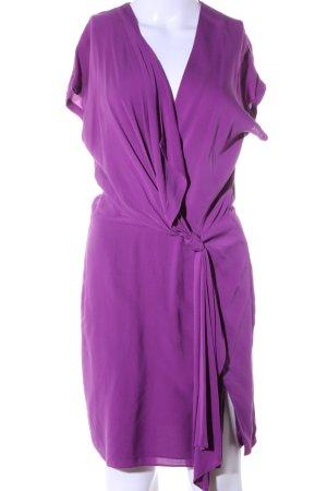 Diane von Furstenberg Kurzarmkleid lila Casual-Look