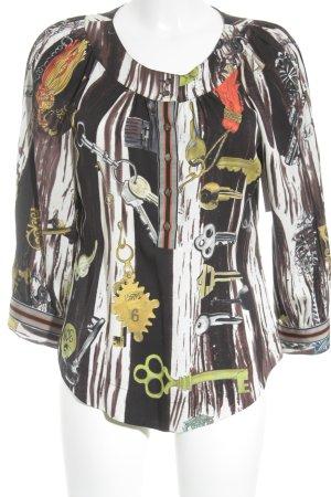 Diane von Furstenberg Langarm-Bluse abstraktes Muster Casual-Look