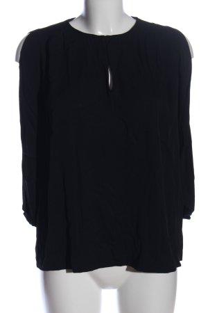 Diane von Furstenberg Langarm-Bluse schwarz Casual-Look