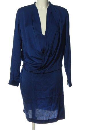 Diane von Furstenberg Vestido de manga larga azul elegante