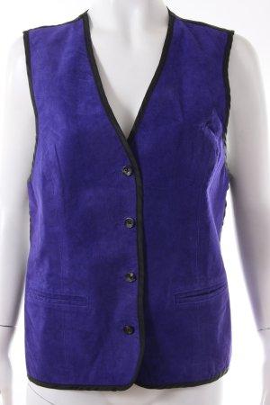 Diane von Furstenberg Chaleco de cuero negro-violeta oscuro Cuero