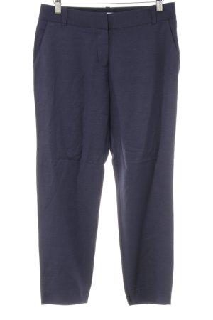 Diane von Furstenberg Pantalón de lino azul oscuro look casual
