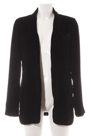 Diane von Furstenberg Long-Blazer schwarz Logo-Applikation