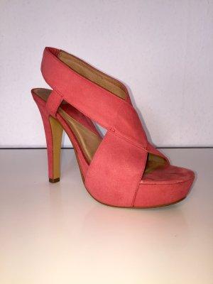 Diane von Furstenberg Melon Suede Platform Sandals Gr. 36