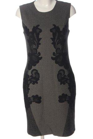Diane von Furstenberg Midi Dress black-light grey graphic pattern
