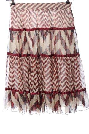Diane von Furstenberg Jupe superposée Mélange de motifs style décontracté