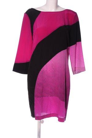 Diane von Furstenberg Minikleid schwarz-pink Punktemuster Casual-Look