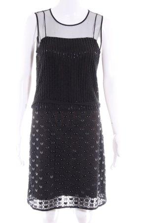 Diane von Furstenberg Minikleid schwarz extravaganter Stil