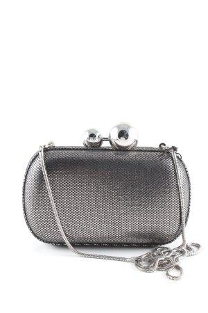 Diane von Furstenberg Minitasche silberfarben Webmuster Elegant