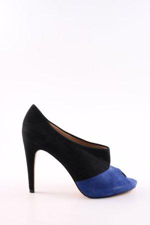 Diane von Furstenberg Peeptoe Pumps schwarz-blau Elegant