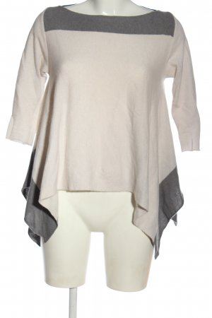 Diane von Furstenberg Pull ras du cou blanc-gris clair motif rayé