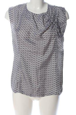 Diane von Furstenberg Schlupf-Bluse schwarz-weiß Allover-Druck Casual-Look