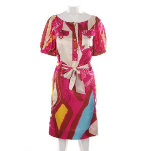 Diane von Furstenberg Seidenkleid in Multicolor Gr. 34 US 4