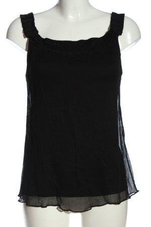 Diane von Furstenberg Jedwabny top czarny W stylu casual