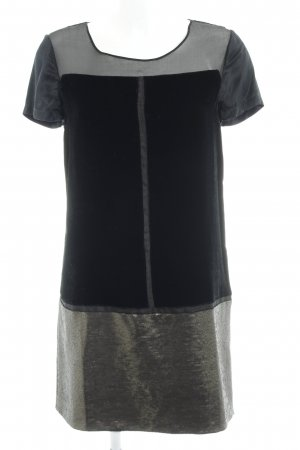 Diane von Furstenberg Vestido estilo camisa negro-color oro elegante