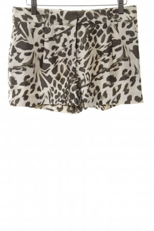 Diane von Furstenberg Shorts creme-braun Allover-Druck Casual-Look