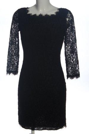 Diane von Furstenberg Vestido de encaje negro elegante