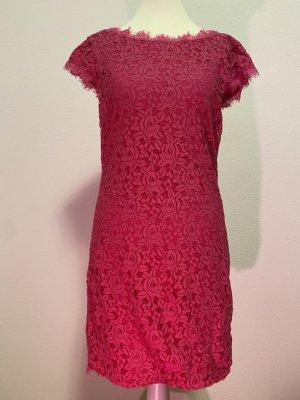 Diane von Furstenberg Abito in pizzo rosso lampone Nylon