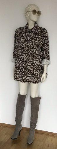Diane von Furstenberg Overknees grey brown leather