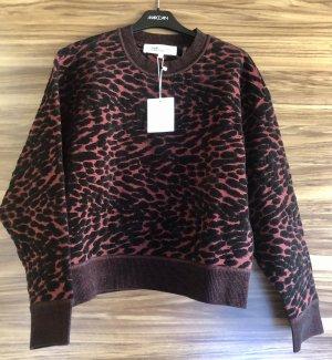 Diane von Furstenberg Sweatshirt noir-rouge carmin