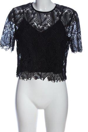 Diane von Furstenberg Transparenz-Bluse schwarz klassischer Stil