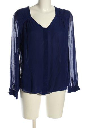 Diane von Furstenberg Transparenz-Bluse blau Elegant