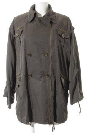 Diane von Furstenberg Trenchcoat khaki Metallelemente